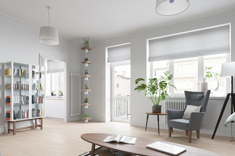 decoracion casas estudio escandinavo muebles