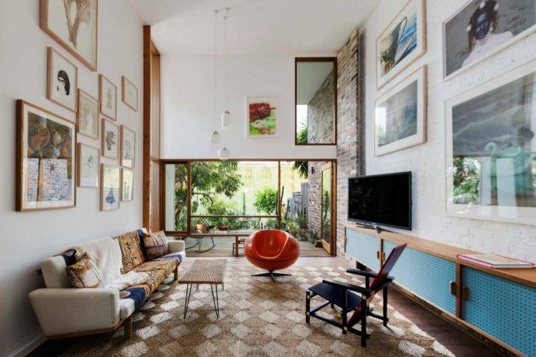 decoracion casas madera geometricos paredes