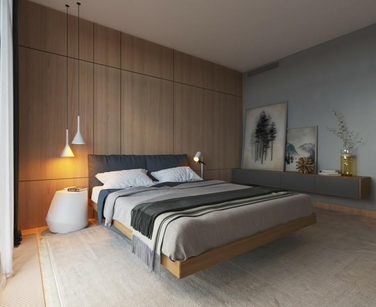 decoracion casas pared madera minimalista calidos