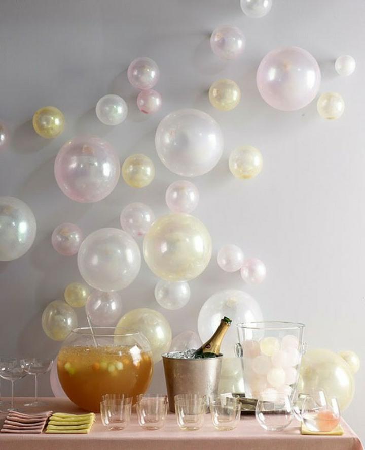 decoracion de globos globos rosa botellas