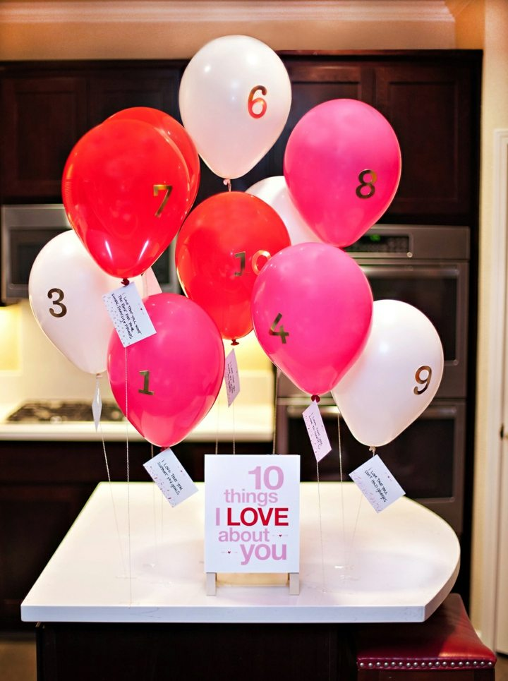 decoracion de globos san valentin cartas
