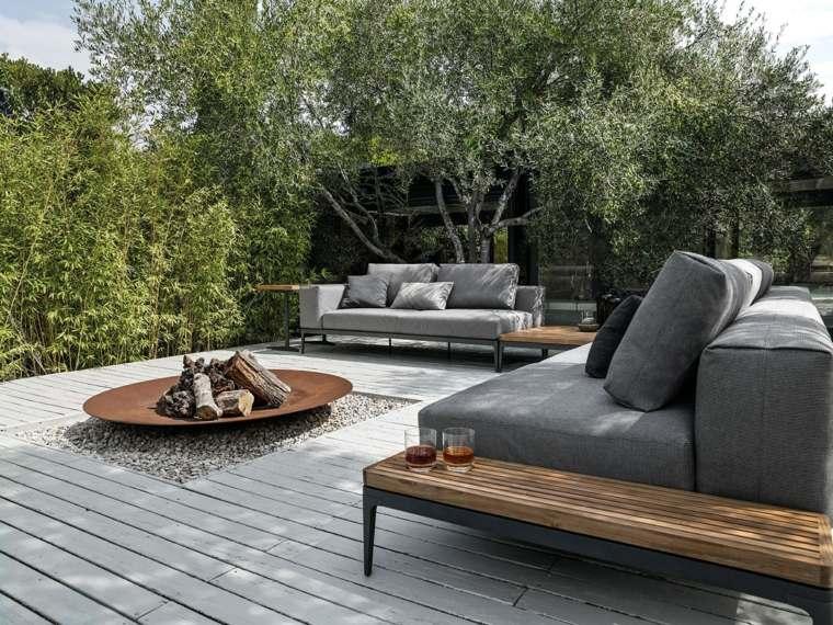 decoracion de terrazas exteriores GRID Sofa Gloster ideas