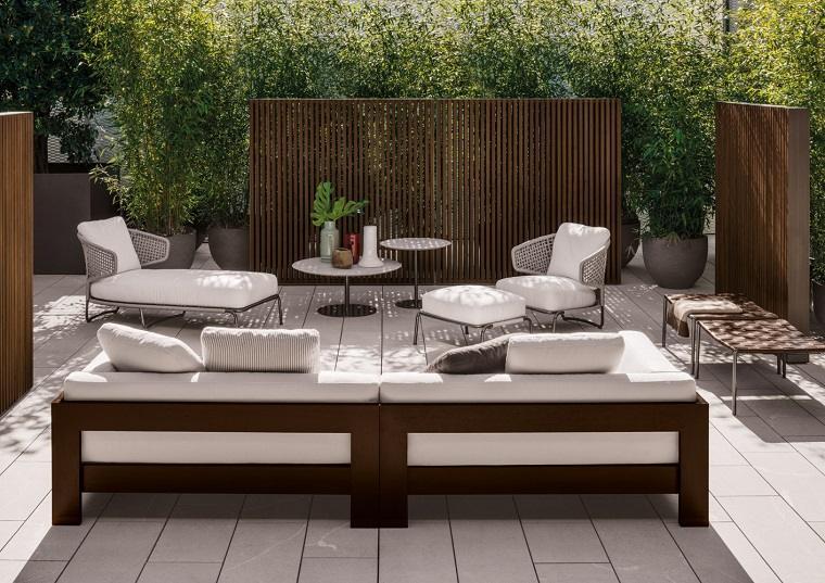 decoracion de terrazas exteriores Minotti ideas