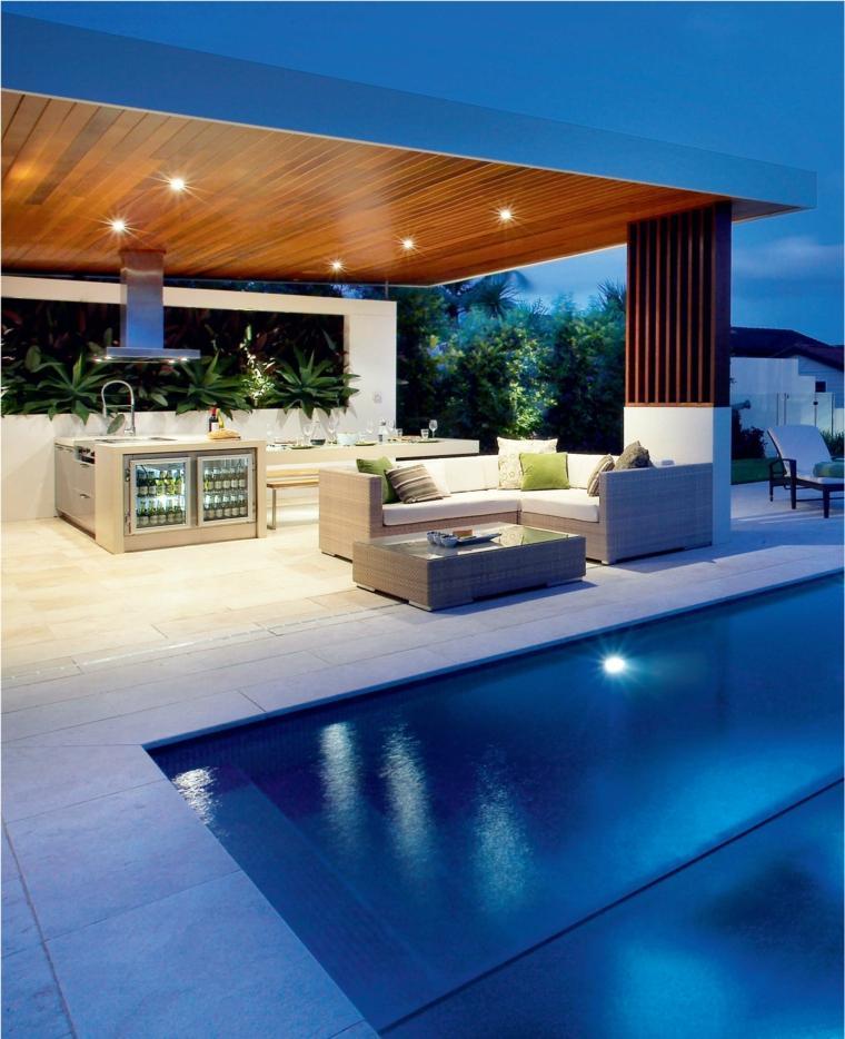 decoracion de terrazas exteriores cocinas aire libre ideas