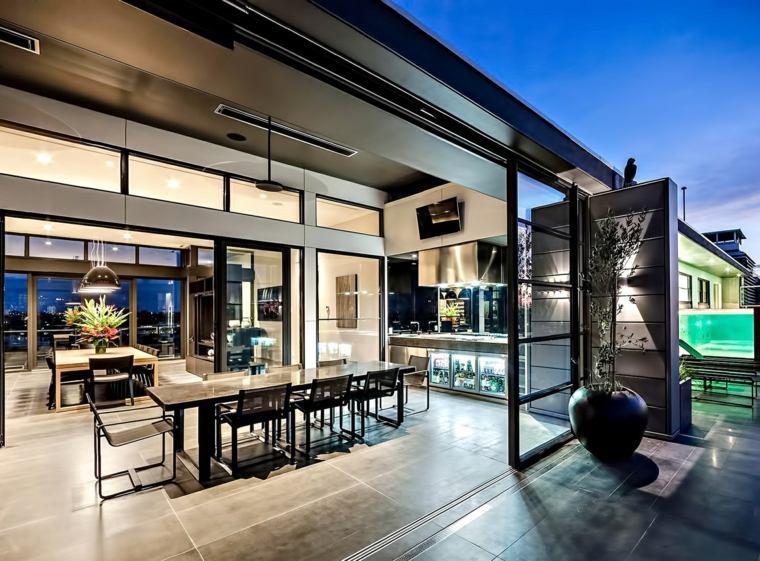 decoracion de terrazas exteriores comedor terraza aire libre ideas
