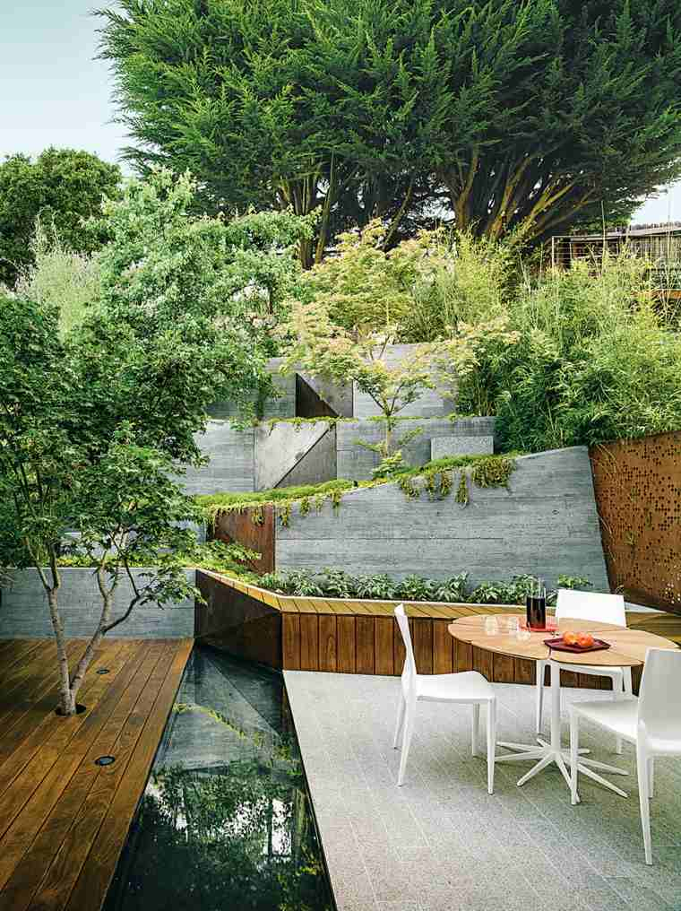 decoracion de terrazas exteriores jardin aterrazado ideas