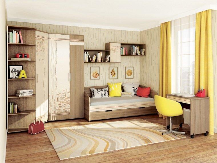 decoracion habitaciones infantiles diseno detalles amarillo ideas