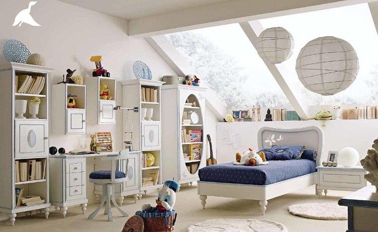 decoracion habitaciones infantiles luminosas muebles blancos ideas