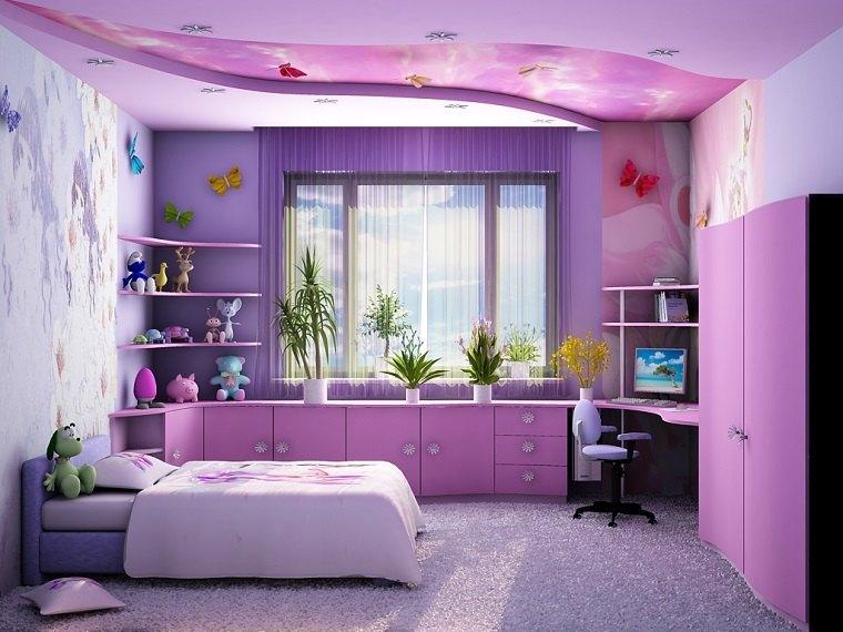 decoracion habitaciones infantiles muebles rosa ideas