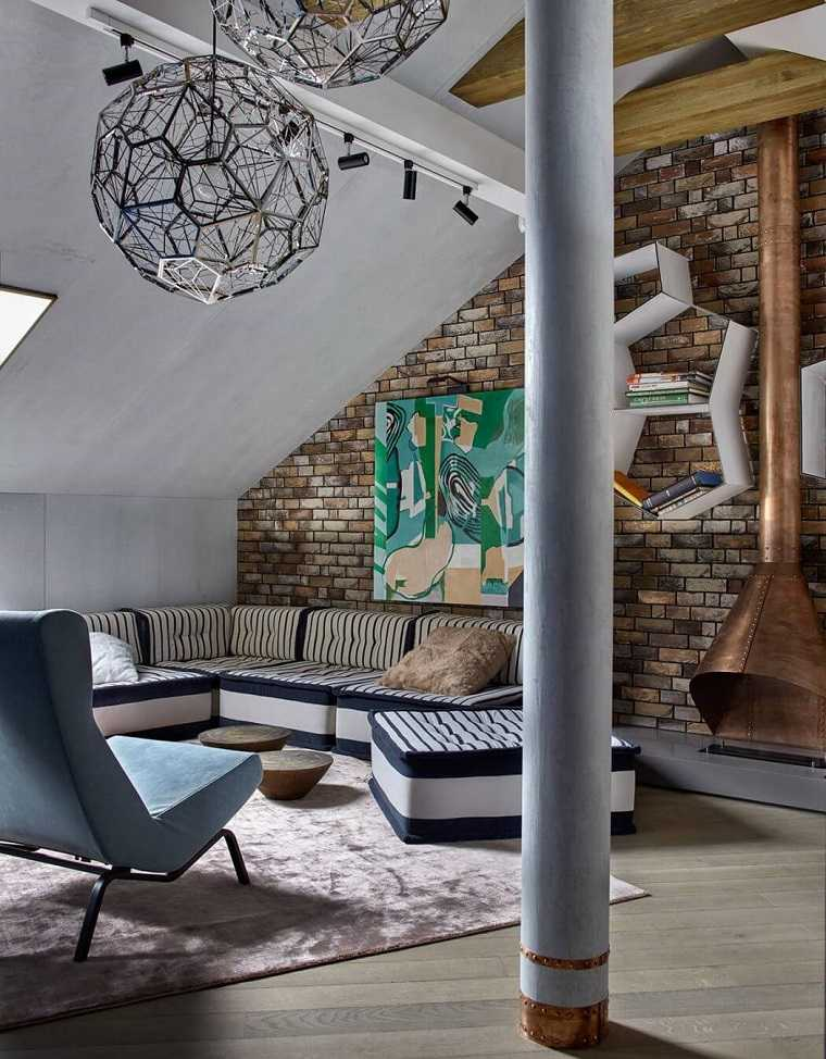 decoración industrial apartamento Moscu Detali Design ideas