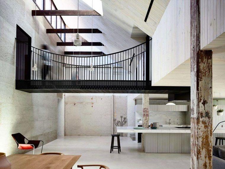 decoración industrial apartamento amplio Architects EAT ideas