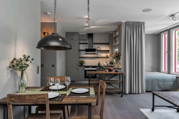 decoracion-industrial-chic-apartamento-pequeno-Estocolmo