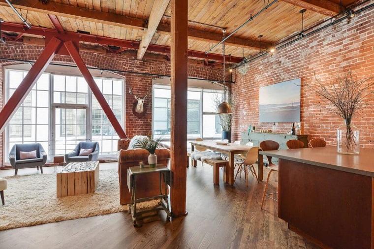 decoración industrial rustica apartamento amplio Melissa Winn Interiors ideas