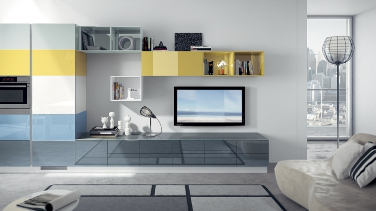 decoración mueble salón moderno elegante