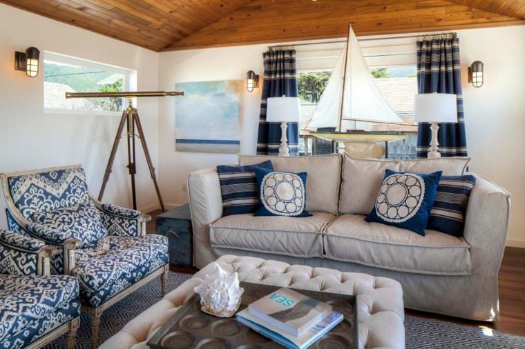 decoracion muebles salon nautico concptos azules partes
