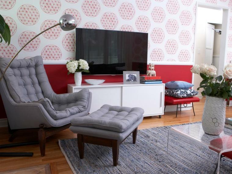 decoracion muebles salon vintage acento grises