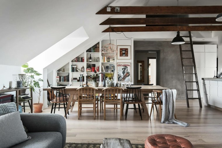 decoración nórdica apartamento comedor diseno Scandinavian Homes ideas