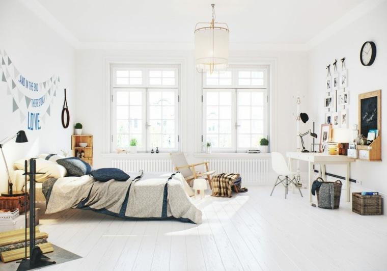 decoración nórdica apartamento diseno dormitorio Image Box Studios ideas
