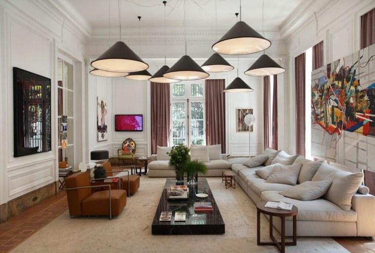decoración salón amplio diseno Gisele Taranto Arquitectura ideas