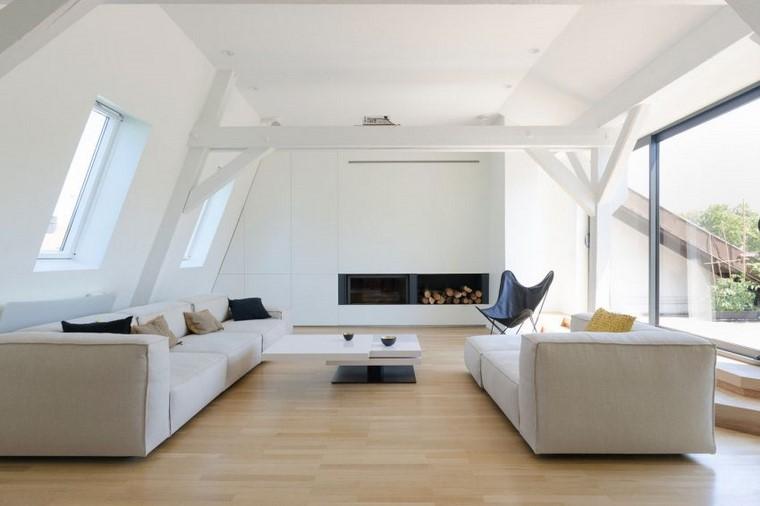 decoración salón diseno atico renovado ff architectes ideas