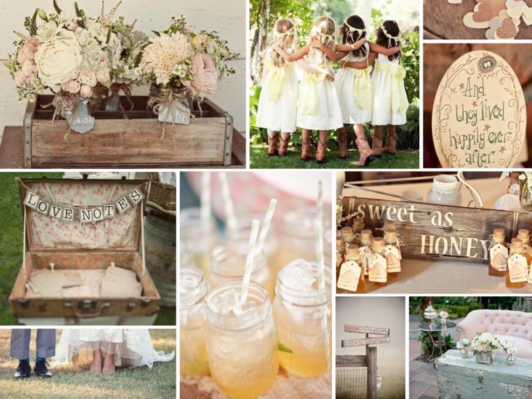 decoraciones bodas campestres tipo vintage