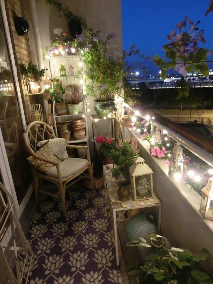 decorar balcon estrecho funcionales estilos listones