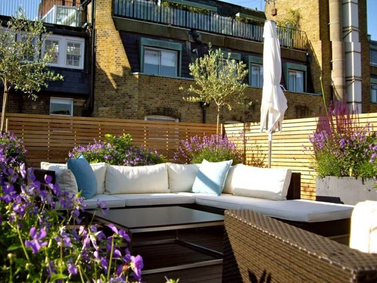 Decorar balcon peque o chill out 50 ideas creativas for Muebles para balcon exterior