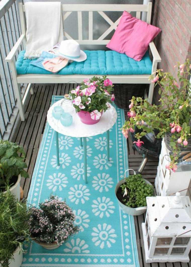 decorar balcon pequeño chill out exteriores coijines alfombra ideas