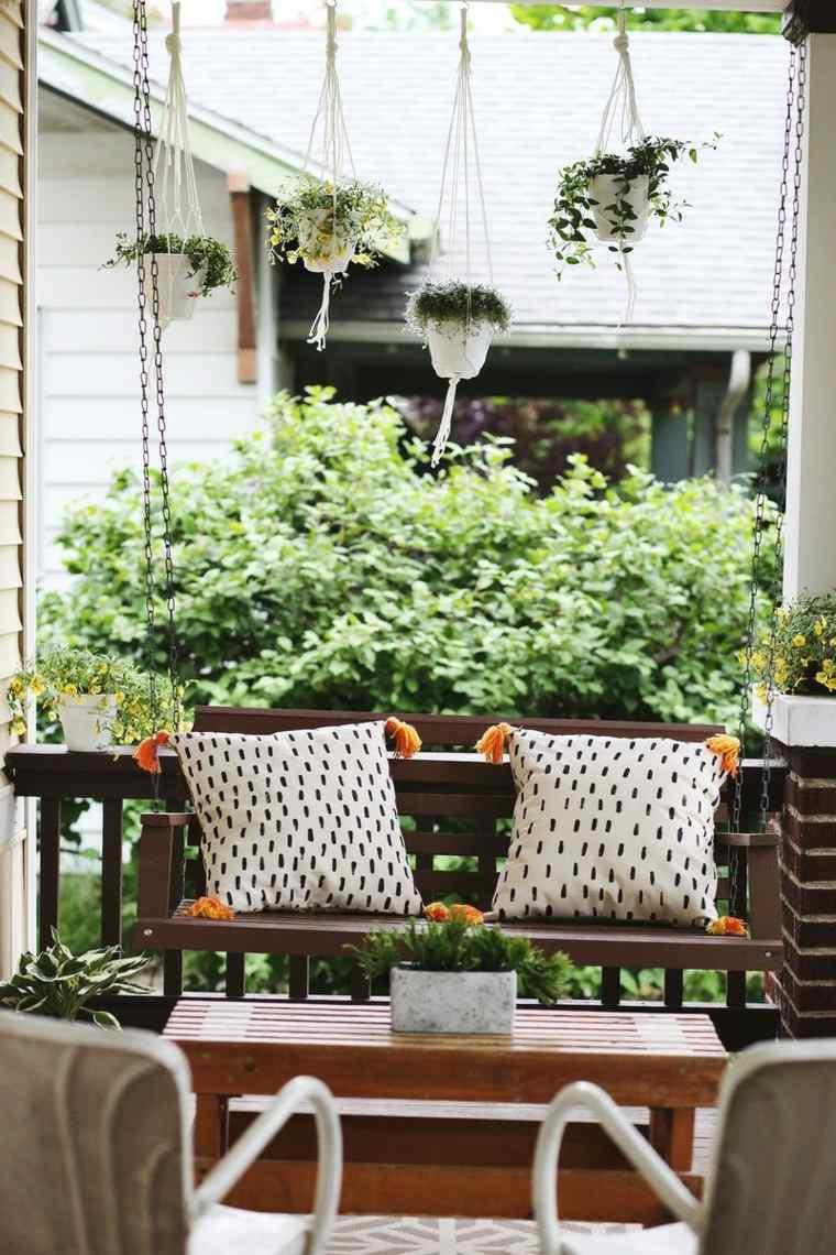 balcon pequeño chill out exteriores cojines ideas