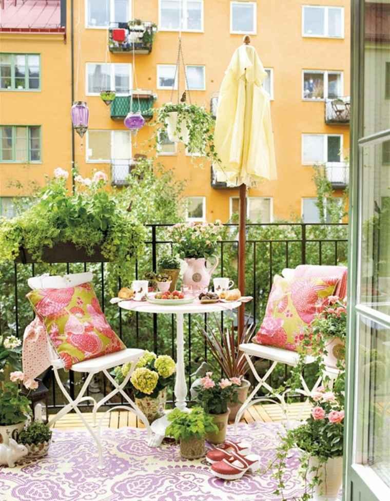 decorar balcon pequeño chill out exteriores diseno acero ideas
