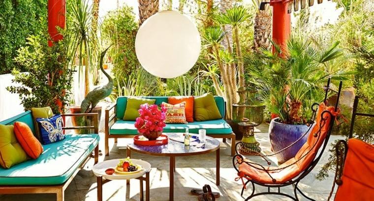 decorar balcon pequeño chill out exteriores espacio colorido ideas
