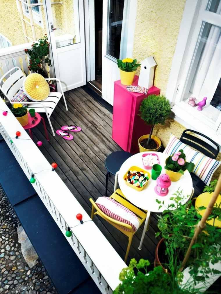 decorar balcon pequeño chill out exteriores espacios coloridos ideas