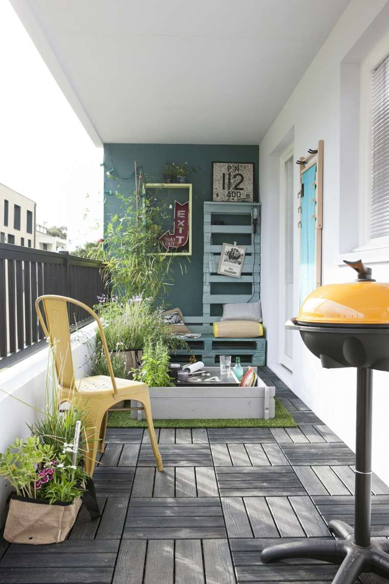Decorar balcon peque o chill out 50 ideas creativas - Decorar balcon pequeno ...