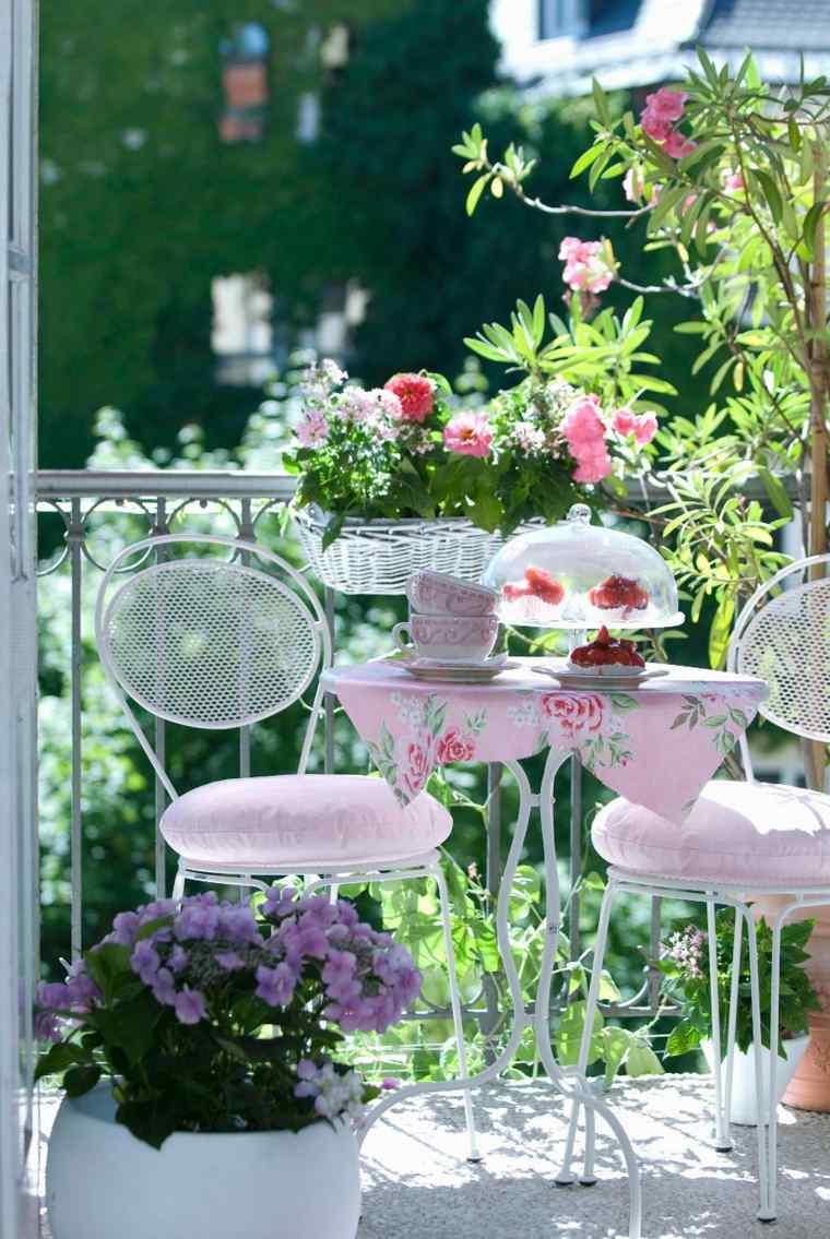 decorar balcon pequeño chill out exteriores muebles acero blanco ideas