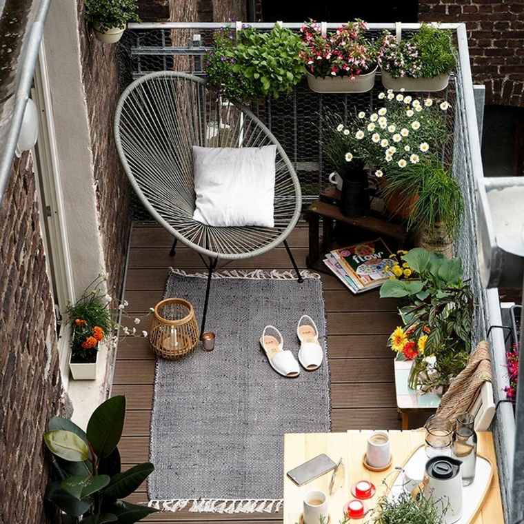 Decorar balcon peque o chill out 50 ideas creativas for Sillas terraza diseno