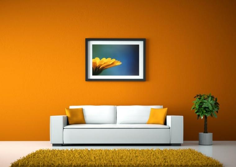 decorar paredes salón cuadros