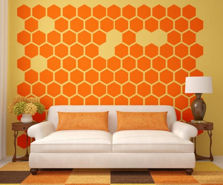 decorar paredes salón moderno