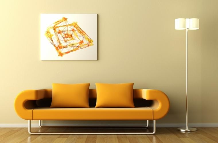 decorar paredes salón pequeño
