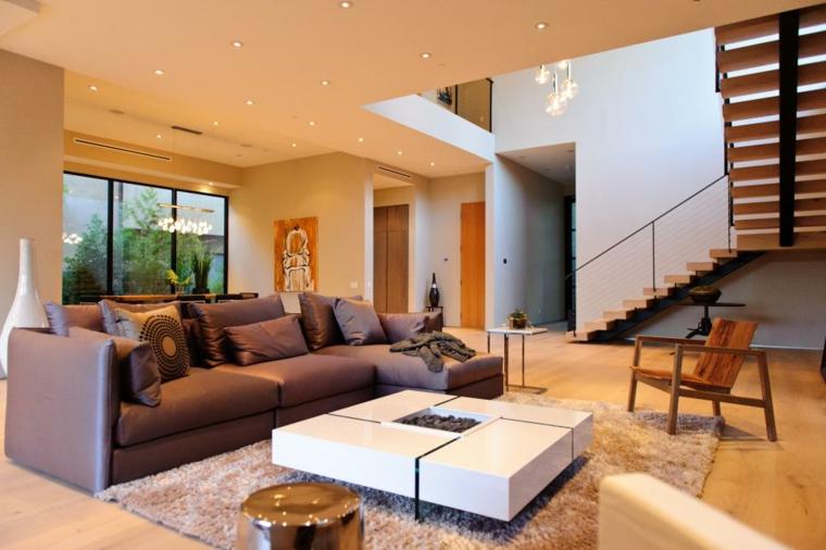 decorar salones acogedores calidos especiales alfombras