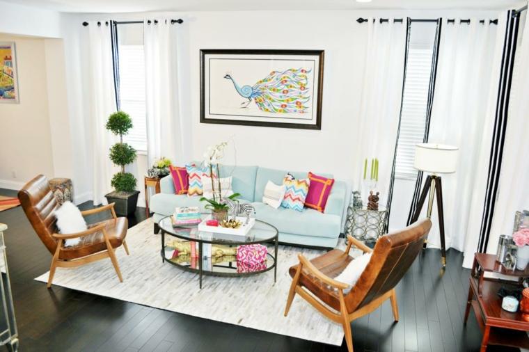 decorar salones acogedores eclectico colorido fuentes