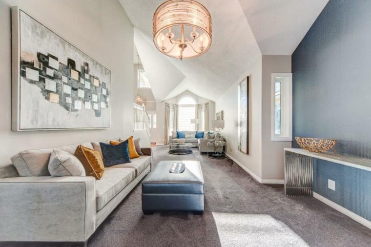 decorar salones acogedores estrecho alargado muebles