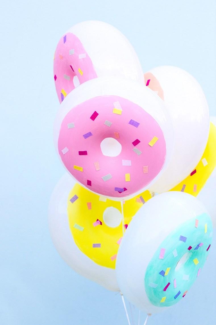 originales globos forma rosquillas