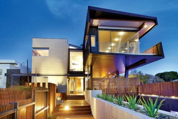 diseno fachada casa lujosa