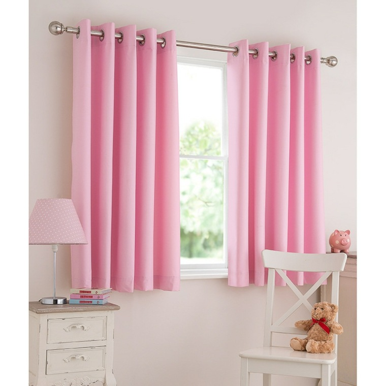 Dise os de cortinas para ni os modelos coloridos y for Cortinas cortas