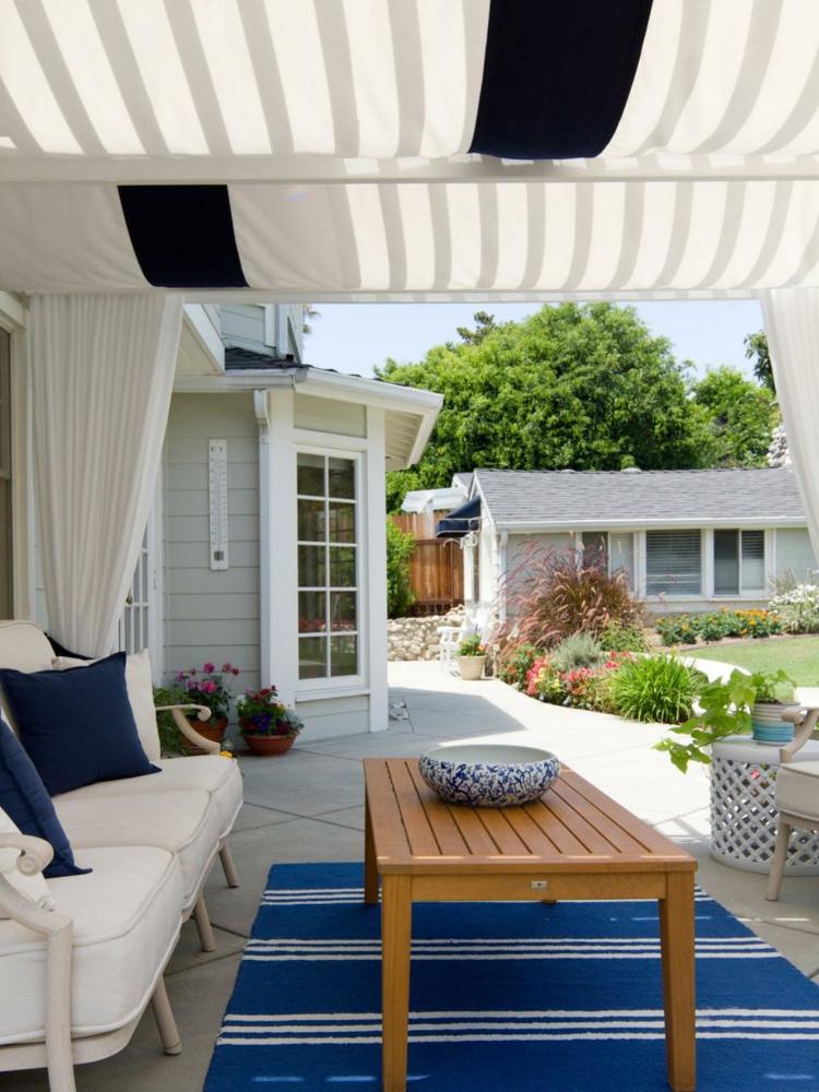 diseos de terrazas cerradas cortinas lineas