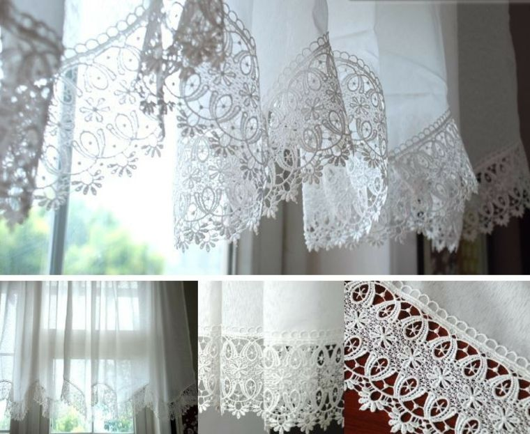 Cortinas para ventanas peque as 24 dise os estupendos - Disenos de cortinas para cocina ...