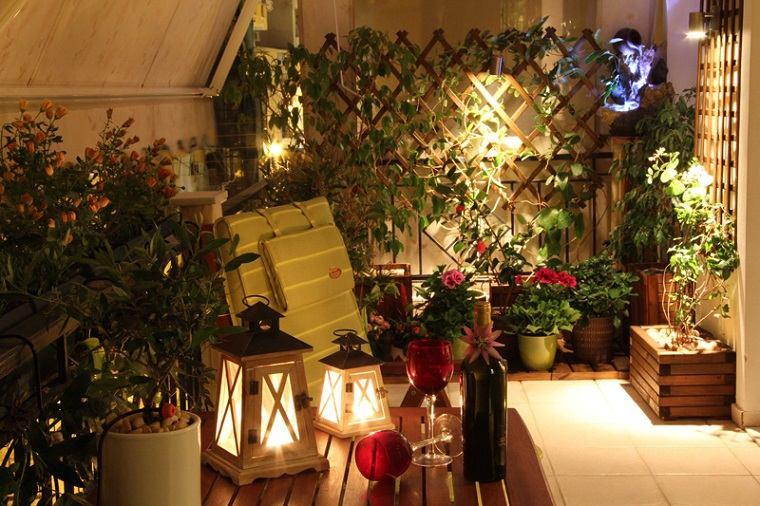 diseno balcon pequeno opciones iluminacion ideas