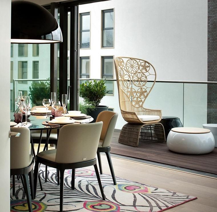 diseno balcon pequeno opciones muebles diseno moderno ideas