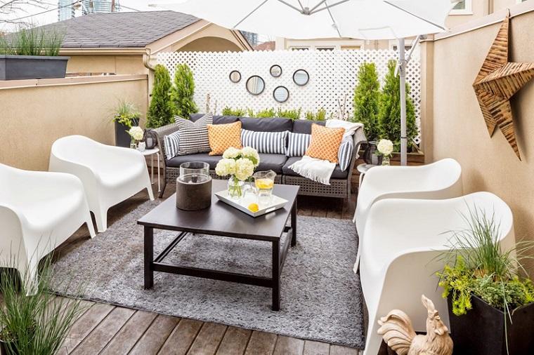 diseno balcon pequeno opciones muebles estilo ideas