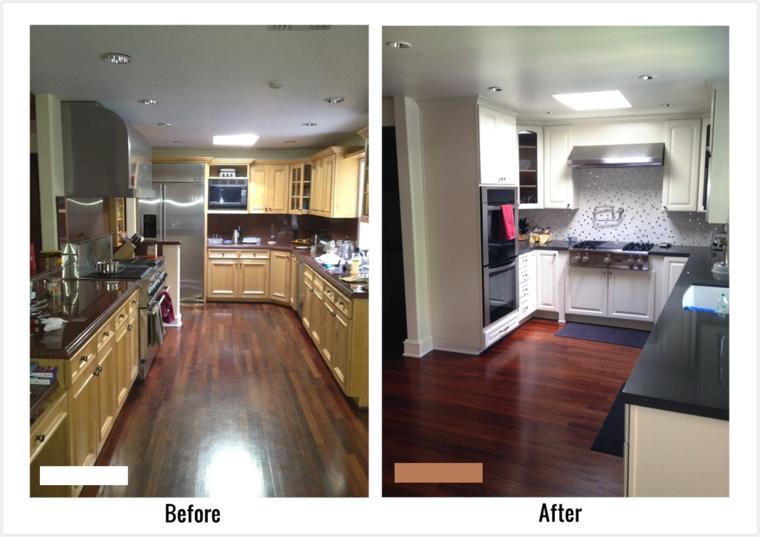 Cocinas reformadas antes y despu s del gran cambio for Small galley kitchen remodel before and after